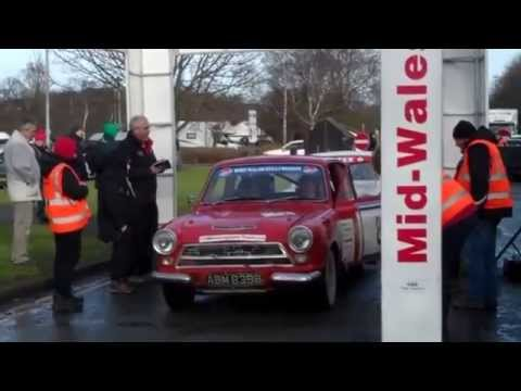 Finish of the 2015 Mid Wales Historic Rally