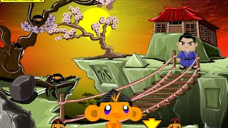 Monkey GO Happy Ninjas 2 Fast Walkthrough