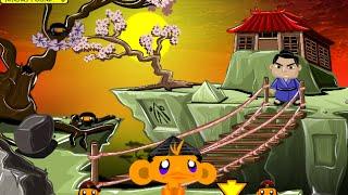 Monkey GO Happy Ninjas 2 Fast Walkthrough
