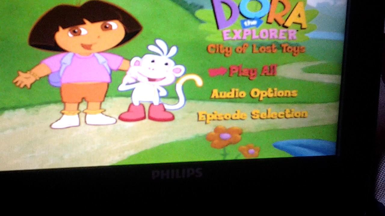 Dora The Explorer City Of Lost Toys UK DVD Menu