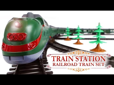 Train Station Railrad Train Set New York - Alaska Long Passenger Trains Toys VIDEO FOR CHILDREN