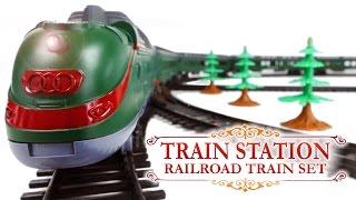 Train Station Railrad Train Set New York - Alaska Long Passenger Trains Toys VIDEO FOR CHILDREN