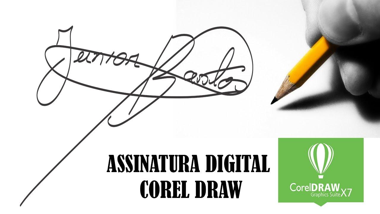 Como fazer assinatura digital tutorial coreldraw youtube ccuart Images
