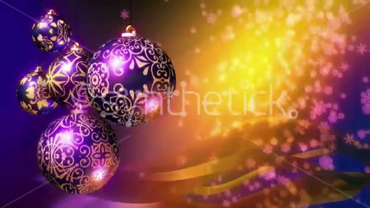 christmas background loop purple and gold christmas balls and snowflakes youtube