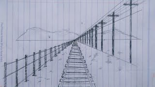 How to Draw One Point Perspective (Contoh Gambar Satu Titik Hilang)