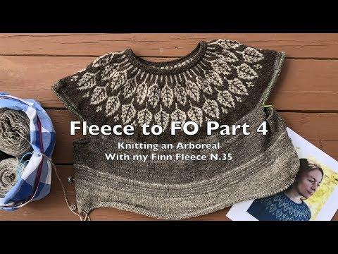 Fleece to FO Part 4: Knitting an Arboreal Sweater with my Finn Fleece N. 35