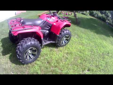 Swamp lites and itp ss212 wheels on Yamaha Grizzly 450