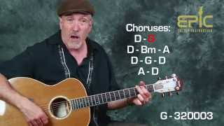 Learn classic country Merle Haggard Mama Tried Easy Beginner guitar song lesson with chords strums