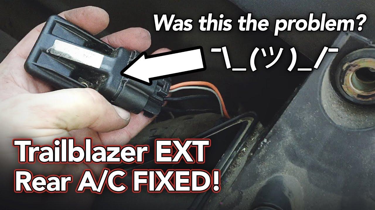 Trailblazer Ext Rear Air Won T Work Fixed Blower Motor Control Module Resistor Youtube
