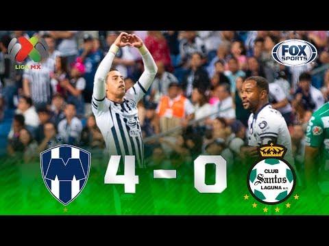 Monterrey - Santos Laguna [4-0] | GOLES | Jornada 14 | Liga MX