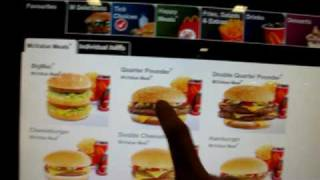 McDonalds Touch Interface Ordering System