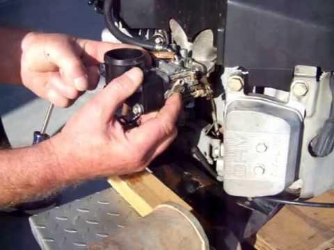 25 hp Kawasaki surging #1 - YouTube