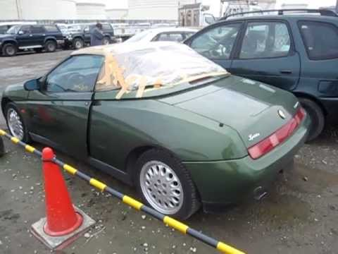 Alfa Romeo Spider Japan Auction Damaged Soft Top YouTube - Alfa romeo spider soft top