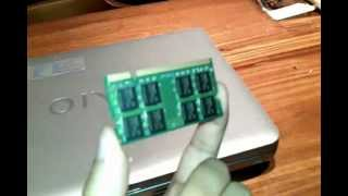 Install Ram memory in Sony VAIO VGN notebook