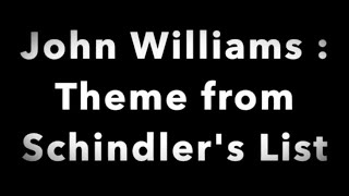 John Williams : Theme from Schindler's List (arranged & played by Daisuke Suzuki )
