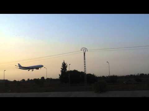 A330-200 Air Algerie landing runway 09 Algiers airport DAAG