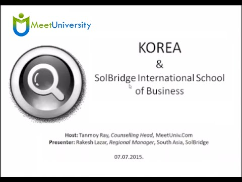 Why Study at SolBridge International School of Business