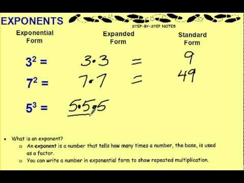 Exponents Youtube