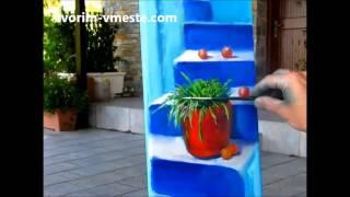 Греческие ступеньки ч. 7.-Конец  Макс Скоблинский  уроки Живописи в Греции.Сахаров