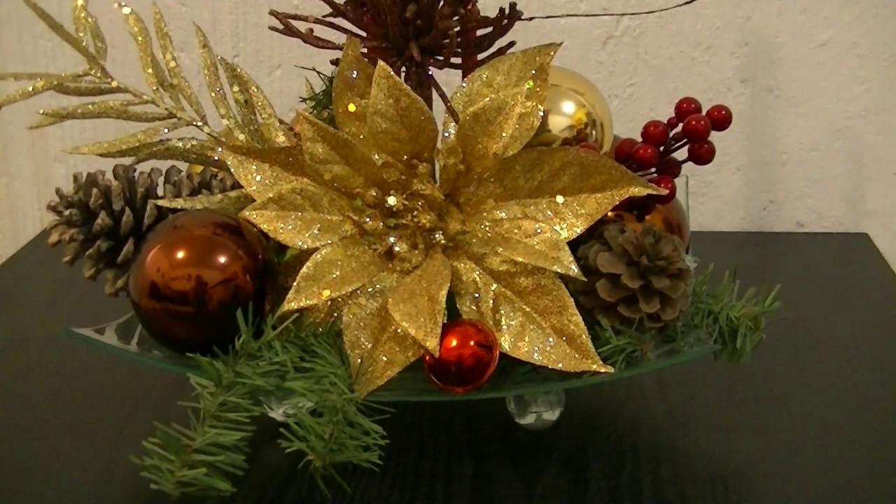 Adornos De Navidad Para Mesas De Centro Tutorial De Navidad - Arreglos-navideos-para-mesa