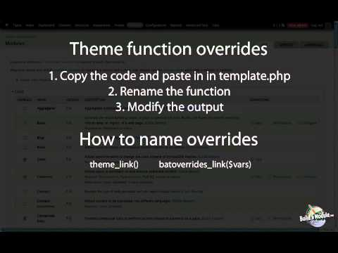 How to override a theme function a drupal how to youtube how to override a theme function a drupal how to pronofoot35fo Choice Image