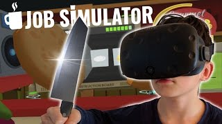 KOTSEN IN DE KEUKEN !! | Job Simulator VR Gourmet Chef (HTC Vive)