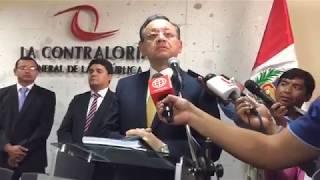 Contralor General Edgar Alarcón en conferencia de prensa desde Arequipa (Diario Correo)