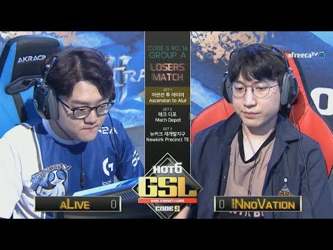 [2017 GSL Season 3]Code S Ro.16 Group A Match4 INnoVation vs aLive