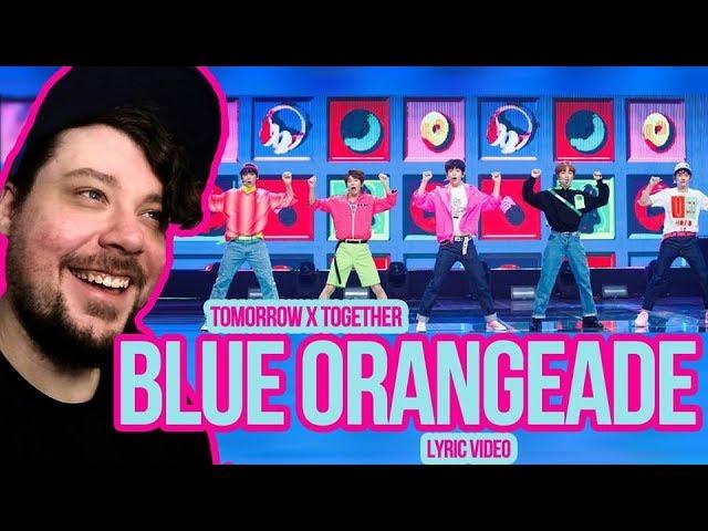 Mikey Reacts to TXT (투모로우바이투게더) - Blue Orangeade - Lyric Video
