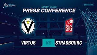 Segafredo Virtus Bologna v SIG Strasbourg - Press Con - Basketball Champions League 2018-19