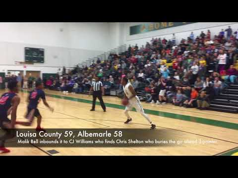 The final 20 seconds of Louisa County vs. Albemarle boys basketball 2018