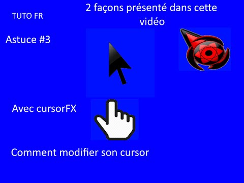 tuto fr comment changer de cursor de souris personnaliser son pc astuce 3 youtube. Black Bedroom Furniture Sets. Home Design Ideas