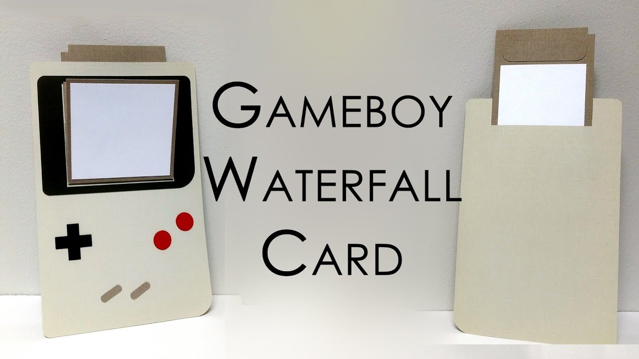 tutorial template gameboy waterfall card youtube