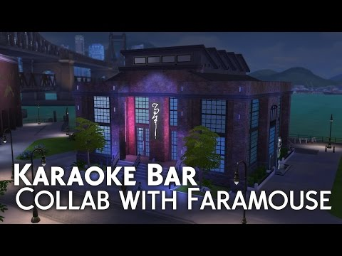 The Sims 4 Build | Karaoke Bar - WITH FARAMOUSE
