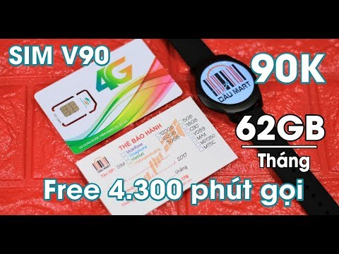 Review SIM 4G Viettel V90 Tặng 4.300 Phút Gọi Và 62GB/Tháng Trong 12 Tháng Giống C90 Và VD89
