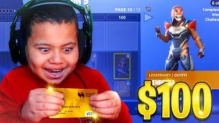Kid Spends $100 On Season 9 *MAX* Battle Pass With Brother's Credit Card! (Fortnite) | MindOfRez