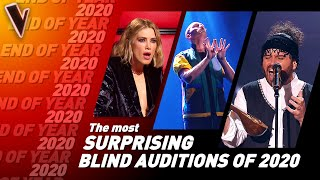 The MOST UNIQUE & SURPRISING Blind Auditions of 2020 on The Voice   Top 10