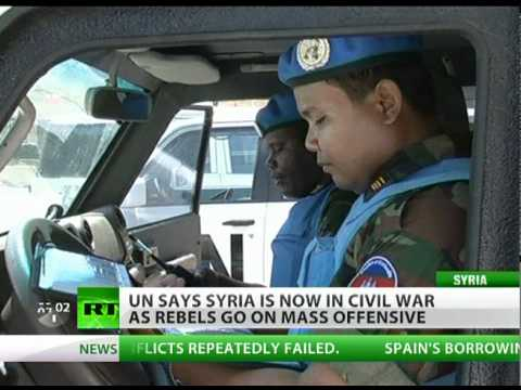 'Syria in full-scale civil war' - UN peacekeepers