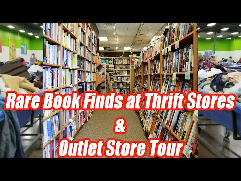 Rare Books Finds At Thrift Stores & Outlet Tours - Vintage & Antiques - Online Reselling