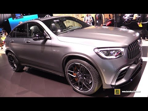 2020 Mercedes AMG GLC 63 Coupe - Exterior and Interior Walkaround - Debut at 2019 NY Auto Show
