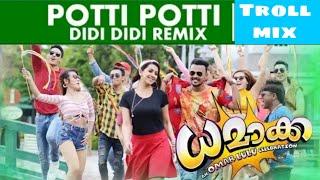 Potti Potti Didi Didi Remix | Dhamaka | Omar Lulu | SONG MIX