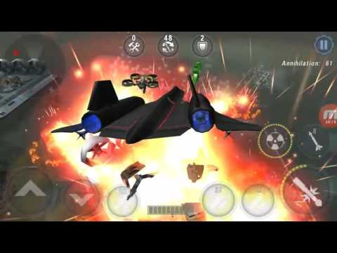 Gunship battle New Black bird jett with power full bombing a
