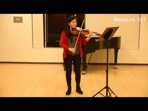2017 Irvine Middle School Honor Orchestra Audition Piece for Violin