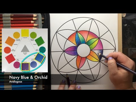 How to Blend with Crayola Colored Pencils- Tutorial Blending Using 2 Colors