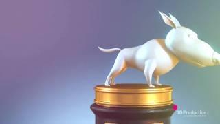3d персонажи для фильма «Белка и Стрелка звездные собаки »