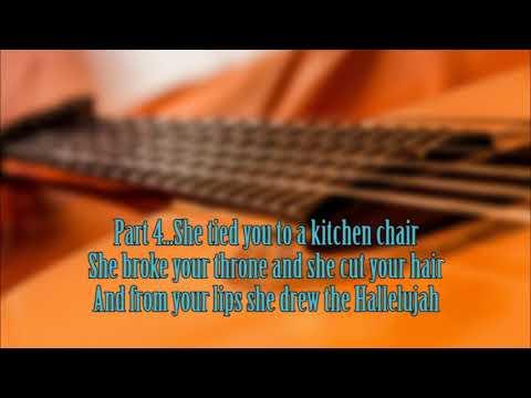 Hallelujah Guitar Karaoke Youtube