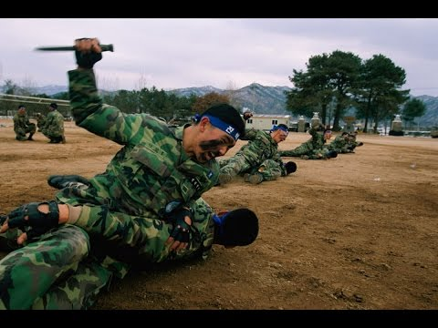 Republic of Korea ROK Army Krav Maga knife fighting training