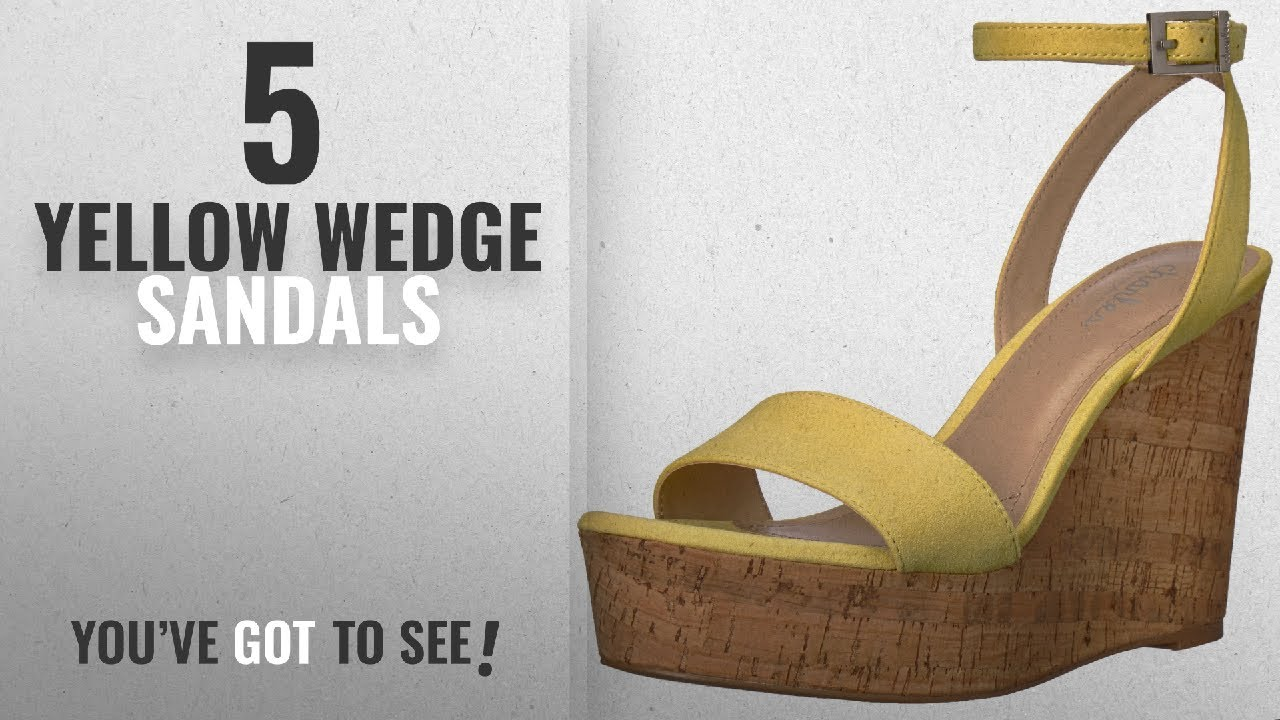 4653f53d1d9 Top 5 Yellow Wedge Sandals  2018   Charles by Charles David Women s ...