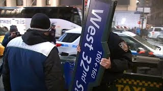 Child struck by street sign outside Madison Square Garden in Midtown