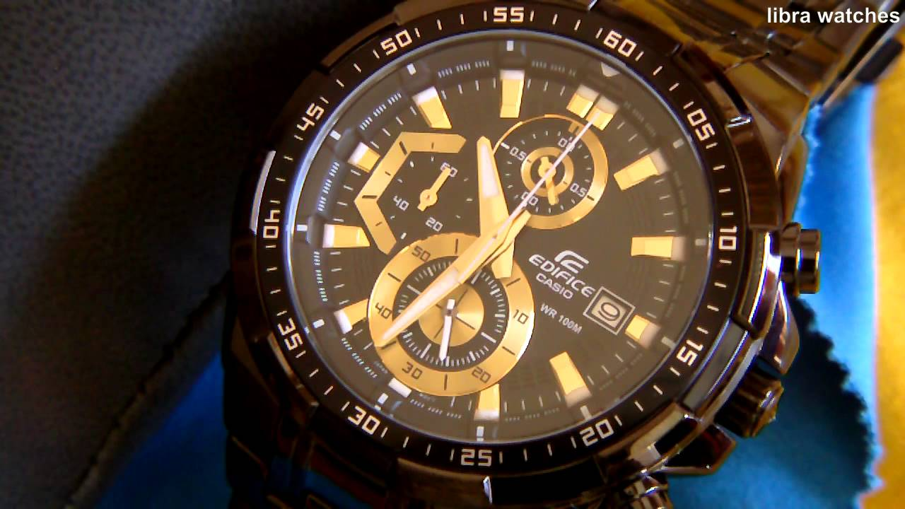 Casio Edifice Chronograph Wr 100 Efr 539bk 1avuef Youtube 539 L
